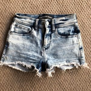 Express High Waste Cut Off Shorts - Size 00